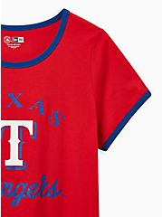 Classic Fit Ringer Tee - MLB Texas Rangers Red, RED, alternate