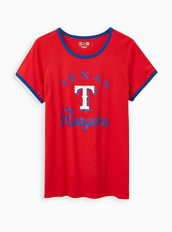 Classic Fit Ringer Tee - MLB Texas Rangers Red, RED, hi-res