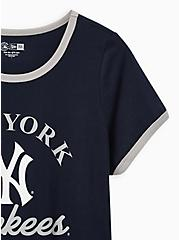 Classic Fit Ringer Tee - MLB New York Yankees Navy  , PEACOAT, alternate