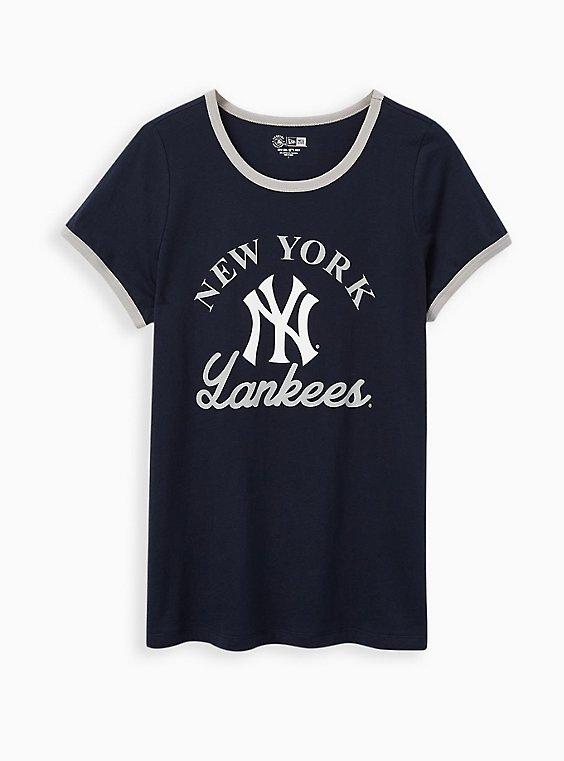 Classic Fit Ringer Tee - MLB New York Yankees Navy  , PEACOAT, hi-res