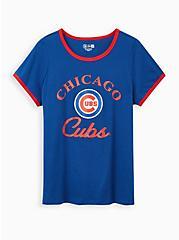 Classic Fit Ringer Tee - MLB Chicago Cubs Blue, BLUE, hi-res