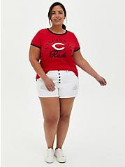Classic Fit Ringer Tee - MLB Cincinnati Reds Red, RED, alternate