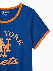 Classic Fit Ringer Tee - MLB New York Mets Navy, PEACOAT, alternate