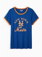 Classic Fit Ringer Tee - MLB New York Mets Navy, PEACOAT, hi-res