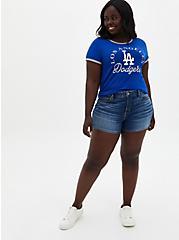 Classic Fit Ringer Tee - MLB Los Angeles Dodgers Blue, BLUE, alternate
