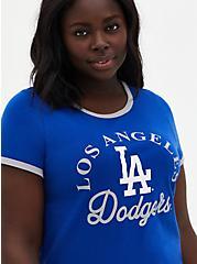 Classic Fit Ringer Tee - MLB Los Angeles Dodgers Blue, BLUE, hi-res