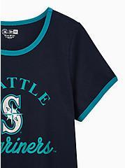 Classic Fit Ringer Tee - MLB Seattle Mariners Navy, PEACOAT, alternate