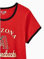 Classic Fit Ringer Tee - MLB Arizona Diamondbacks Red, RED, alternate