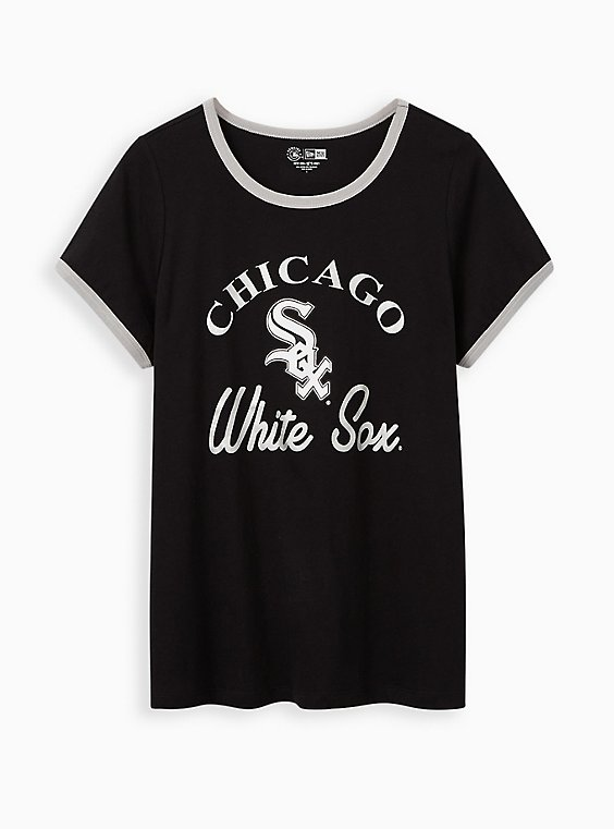 Classic Fit Ringer Tee - MLB Chicago White Sox Black, DEEP BLACK, hi-res