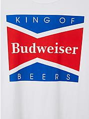 Classic Fit Crew Tee - Budweiser White , WHITE, alternate