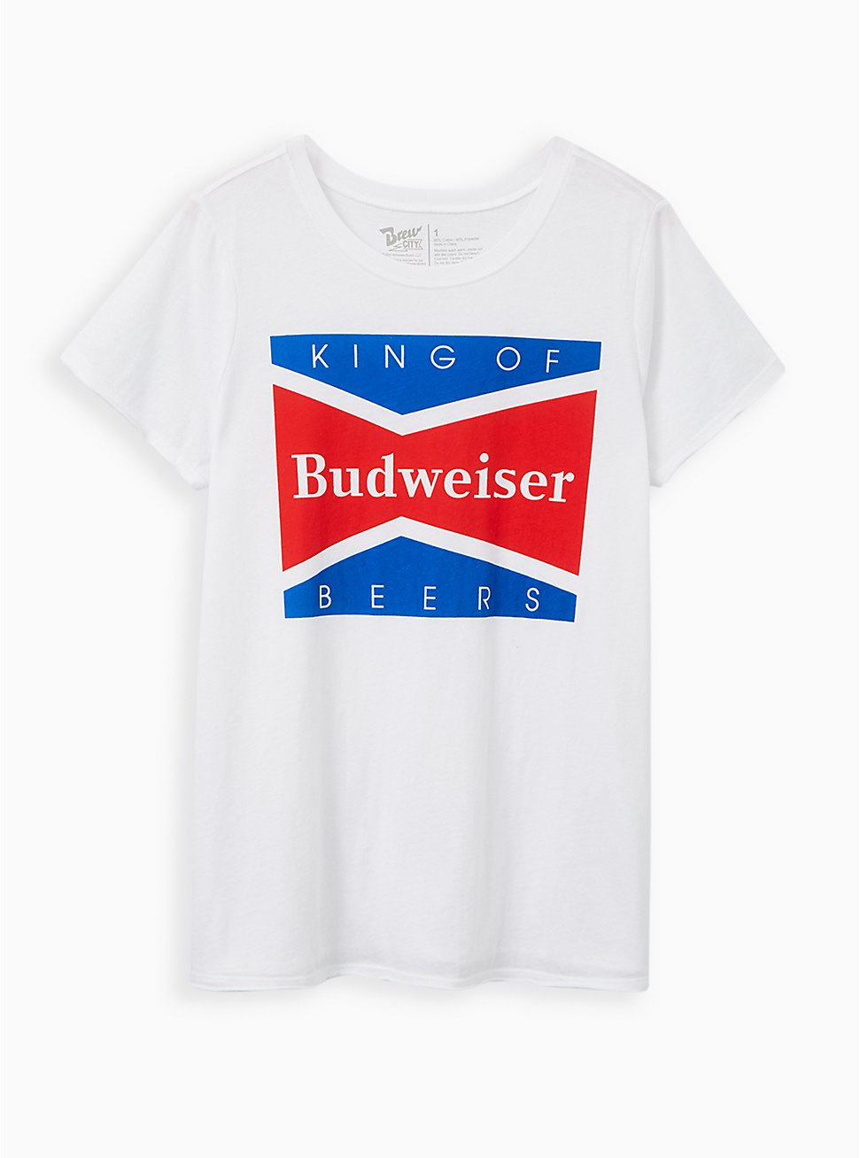 Classic Fit Crew Tee - Budweiser White , WHITE, hi-res
