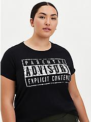 Classic Fit - Parental Advisory Black Crew Tee, DEEP BLACK, hi-res