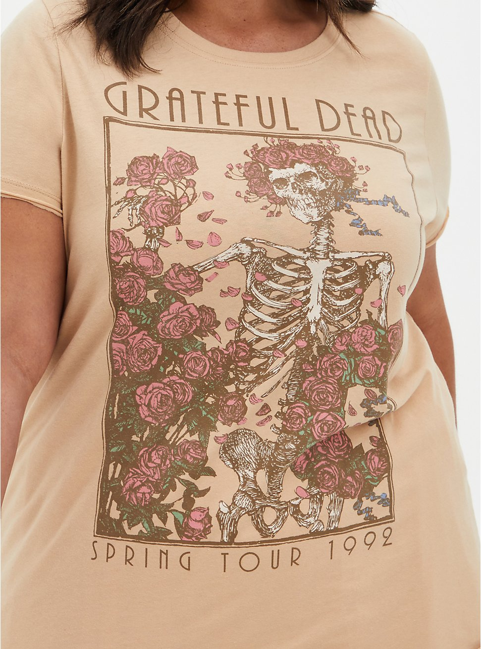 Classic Fit Crew Tee - Grateful Dead Pink , PINK, hi-res