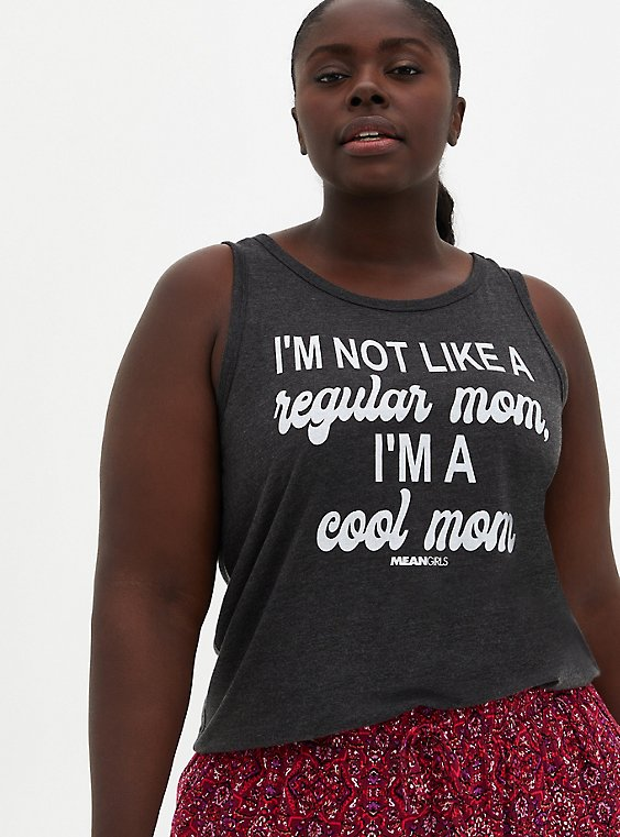 Classic Fit Tank - Mean Girls Cool Mom Grey, CHARCOAL, hi-res