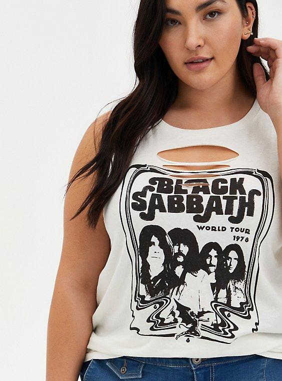 Classic Fit Tank - Black Sabbath White Slashed , WHITE, hi-res