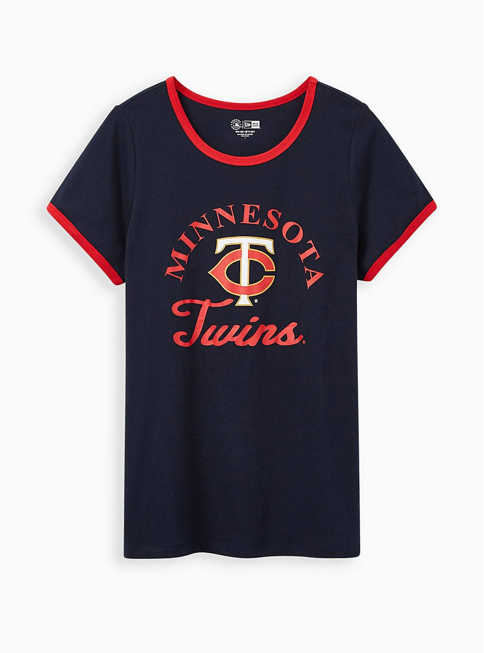 Classic Fit Ringer Tee - MLB Minneapolis Twins Navy, PEACOAT, hi-res