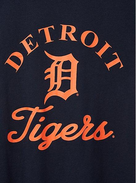 Classic Fit Ringer Tee - MLB Detroit Tigers Navy, PEACOAT, alternate