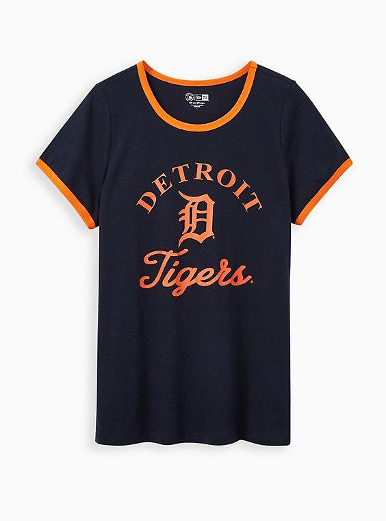 Classic Fit Ringer Tee - MLB Detroit Tigers Navy, PEACOAT, hi-res