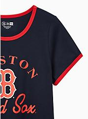 Classic Fit Ringer Tee - MLB Boston Red Sox Navy, PEACOAT, alternate
