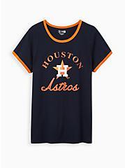 Classic Fit Ringer Tee - MLB Houston Astros Tee Navy, PEACOAT, hi-res