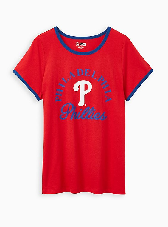 Classic Fit Ringer Tee - MLB Philadelphia Phillies Red, RED, hi-res