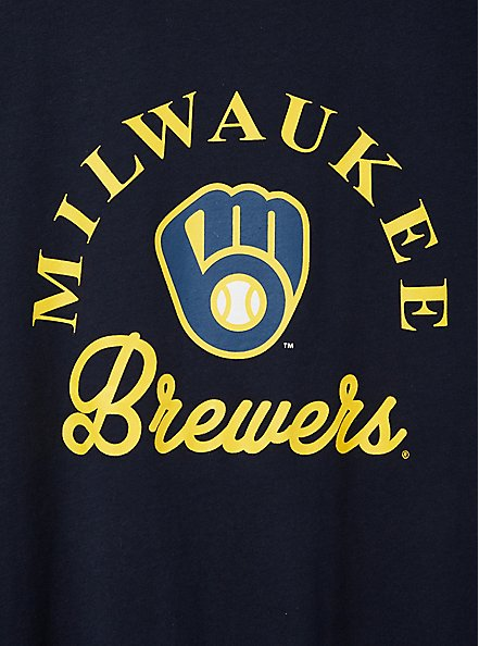 Classic Fit Ringer Tee - MLB Milwaukee Brewers Navy, PEACOAT, alternate
