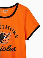 Classic Fit Ringer Tee - MLB Baltimore Orioles Orange, ORANGE, alternate