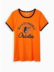 Classic Fit Ringer Tee - MLB Baltimore Orioles Orange, ORANGE, hi-res