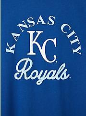 Classic Fit Ringer Tee - MLB Kansas City Royals Blue, BLUE, alternate