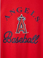 Classic Fit Ringer Tee - MLB Los Angeles Angels Red, RED, alternate