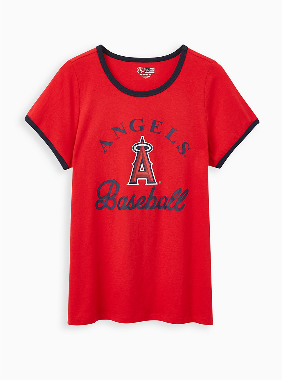 Classic Fit Ringer Tee - MLB Los Angeles Angels Red, RED, hi-res