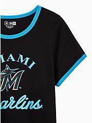 Classic Fit Ringer Tee - MLB Miami Marlins Black, DEEP BLACK, alternate