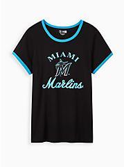 Classic Fit Ringer Tee - MLB Miami Marlins Black, DEEP BLACK, hi-res