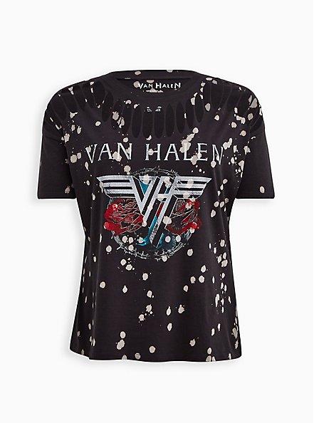 Slashed Tee - Van Halen Grey Wash , GREY, hi-res
