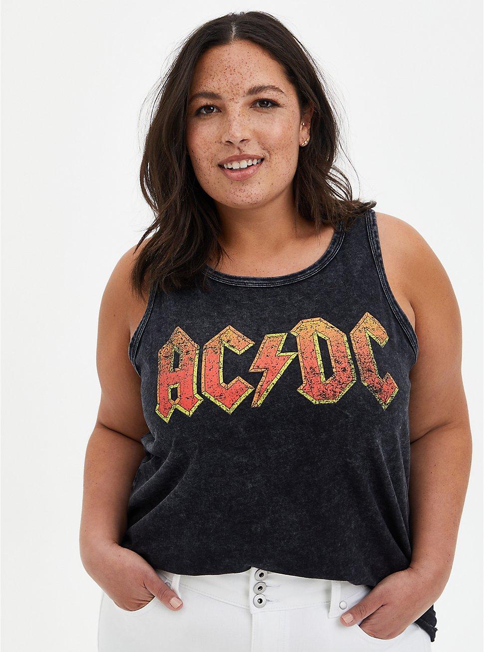 Classic Fit - AC/DC Black Wash Tank, DEEP BLACK, hi-res