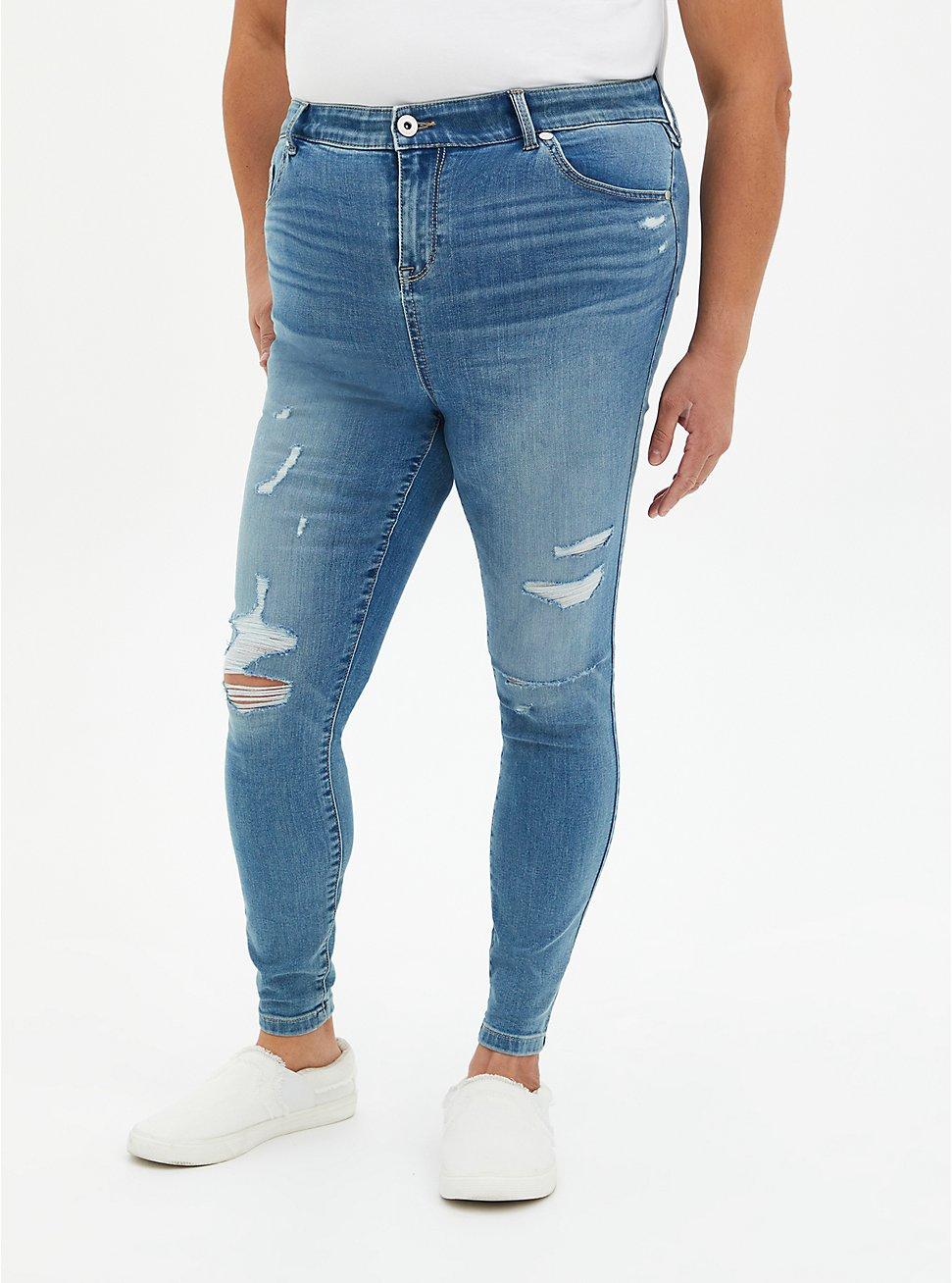 Midfit Super Skinny Jean - Super Soft Light Wash , SALT MARSH, hi-res