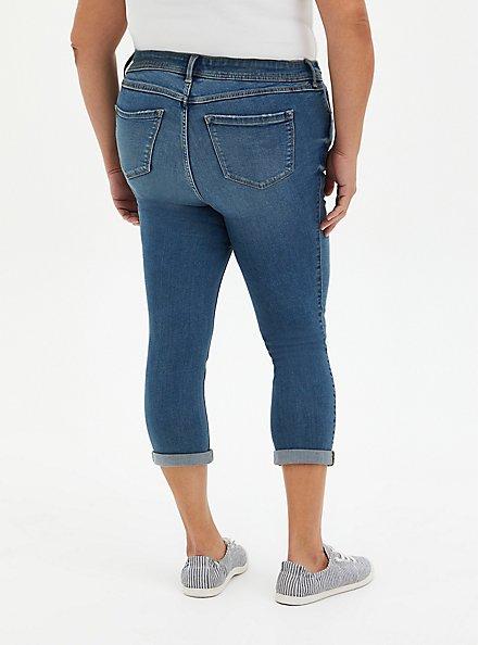 Crop Midfit Super Skinny Jean - Super Soft Medium Wash , MARITIME, alternate