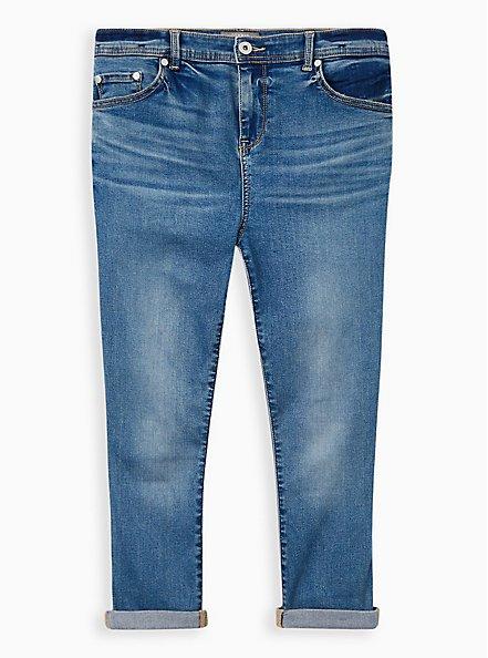 Crop Midfit Super Skinny Jean - Super Soft Medium Wash , MARITIME, hi-res