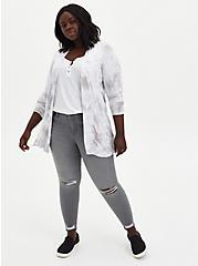 Grey Tie-Dye Super Soft Cardigan Sweater, TIE DYE, alternate