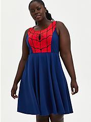 Marvel Spiderman Skater Dress, BLUE  RED, hi-res