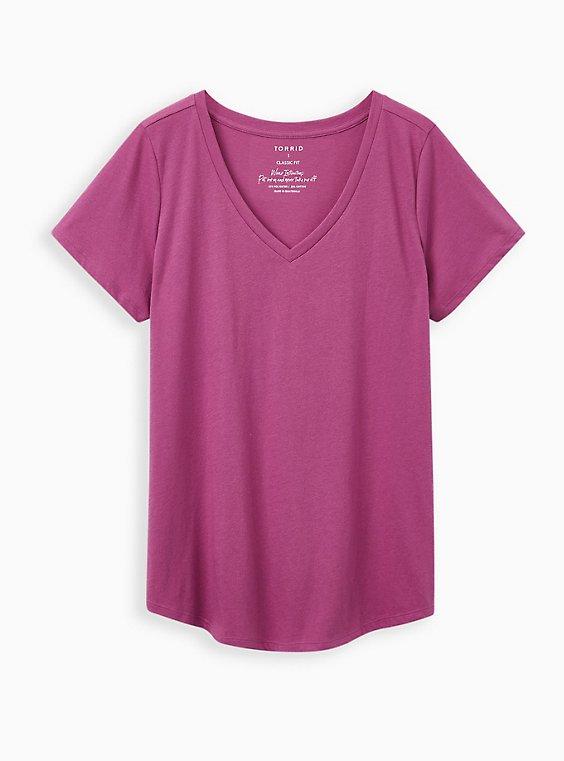 Classic Fit V-Neck Tee - Signature Jersey Purple, , hi-res