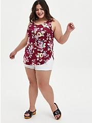 Super Soft Red Floral Tunic Tank   , OTHER PRINTS, alternate