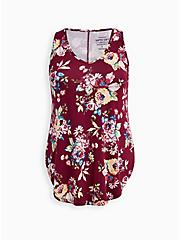 Super Soft Red Floral Tunic Tank   , OTHER PRINTS, hi-res