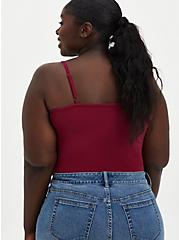 Red Strappy Foxy Cami , BEET RED, alternate