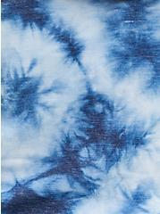 Blue Tie-Dye Terry Off Shoulder Sweatshirt , OTHER PRINTS, alternate