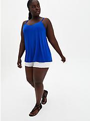 Plus Size Super Soft Blue Swing Cami, ELECTRIC BLUE, alternate