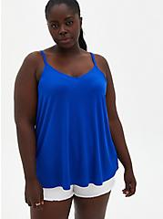 Plus Size Super Soft Blue Swing Cami, ELECTRIC BLUE, hi-res