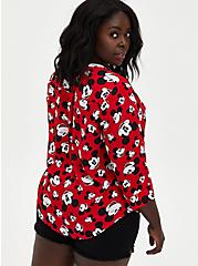 Disney Mickey Mouse Red Harper Pullover Blouse, MULTI, alternate