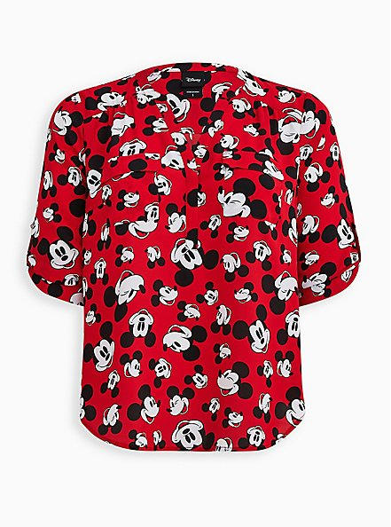 Disney Mickey Mouse Red Harper Pullover Blouse, MULTI, hi-res