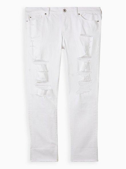Crop Boyfriend Straight Jean - Vintage Stretch White , OPTIC WHITE, hi-res